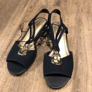 NWOT navy blue sandals